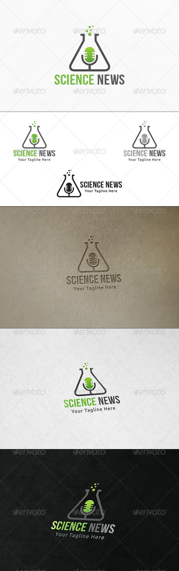 GraphicRiver Science News Logo Template 8196423