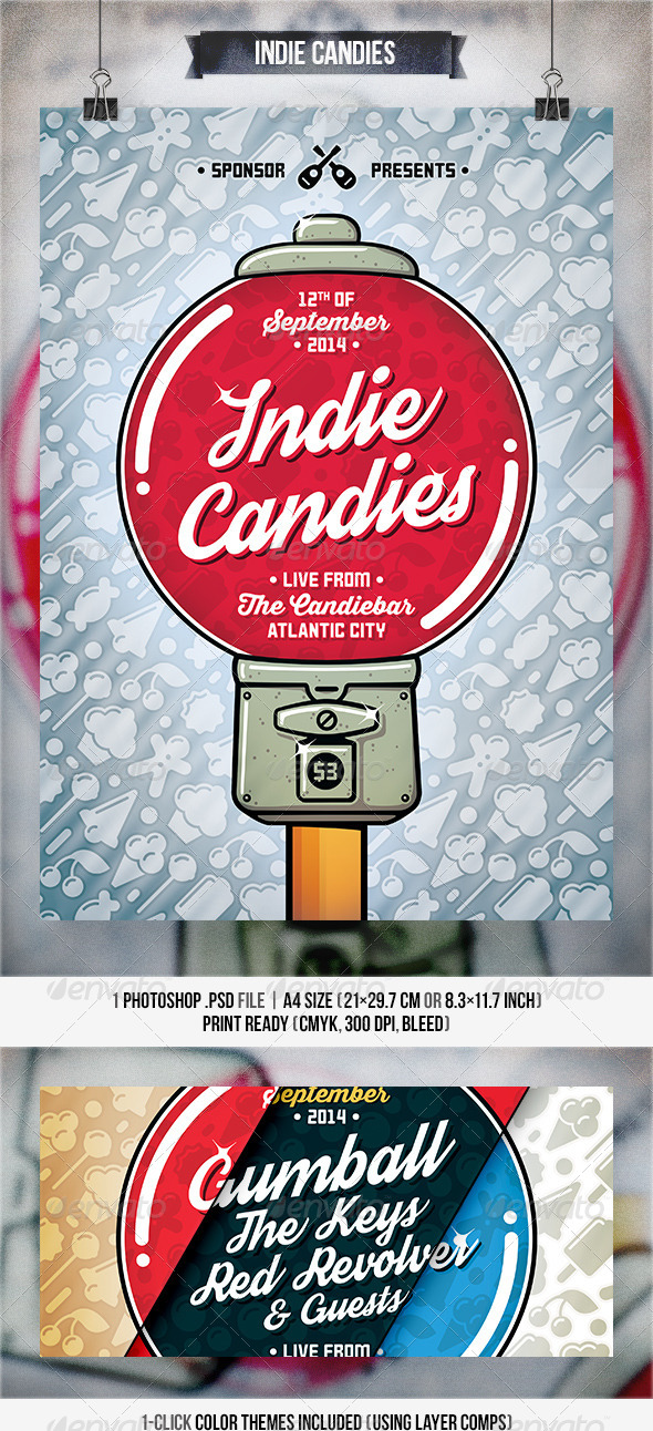 GraphicRiver Indie Candies Flyer & Poster 8196579