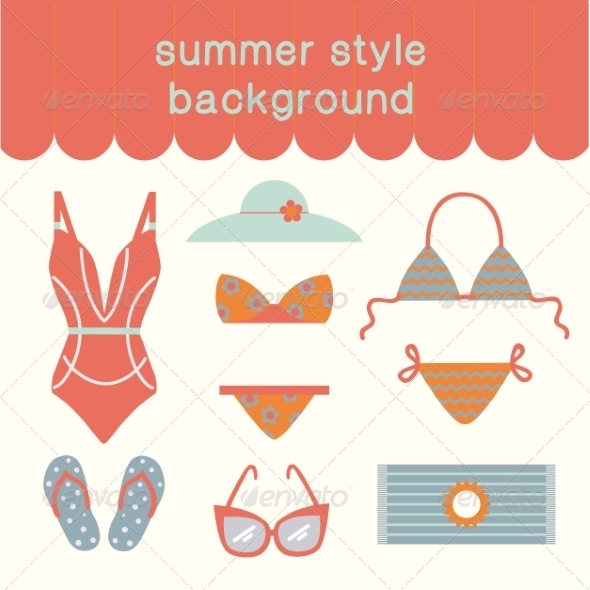 GraphicRiver Summertime Vacations and Traveling Background 8196588
