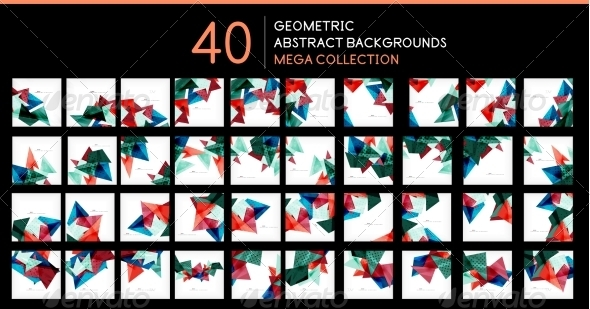 GraphicRiver Mega Collection of Triangle Backgrounds 8196878