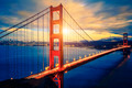 Famous Golden Gate Bridge at sunrise - PhotoDune Item for Sale