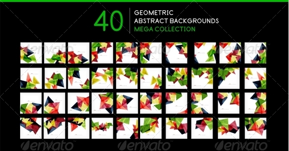 GraphicRiver Mega Collection of Triangle Backgrounds 8196920