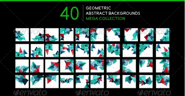 GraphicRiver Mega Collection of Triangle Backgrounds 8196955