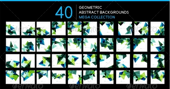 GraphicRiver Mega Collection of Triangle Backgrounds 8197013