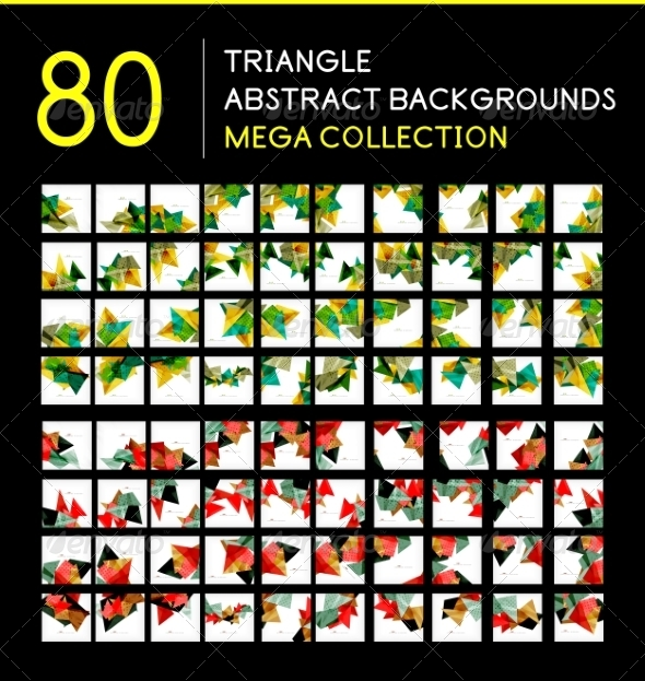 GraphicRiver Mega Collection of Triangle Backgrounds 8197019