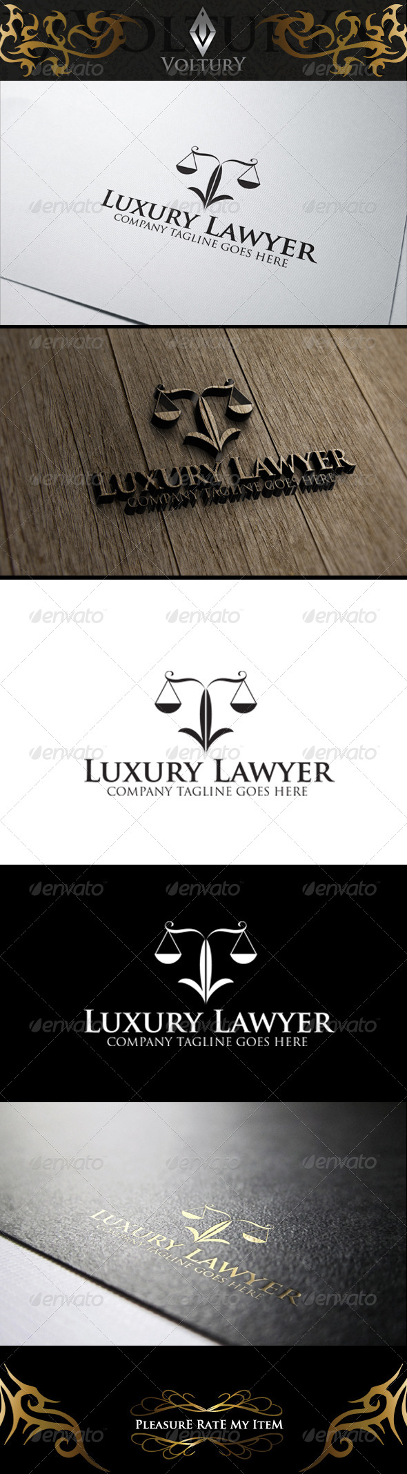 GraphicRiver Luxury Lawyer Logo 8197058