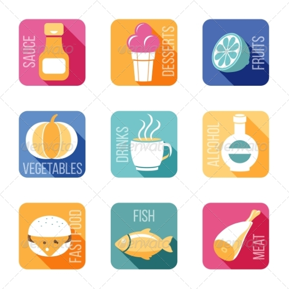 GraphicRiver Food Icons 8197110