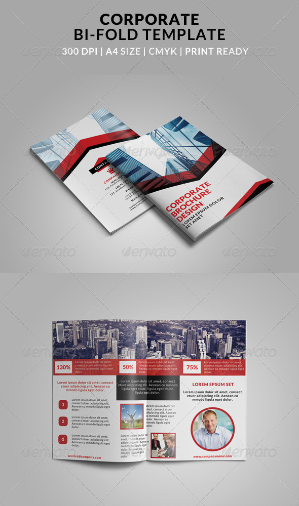 4 fold brochures illustrator stock for Bi fold brochure template illustrator