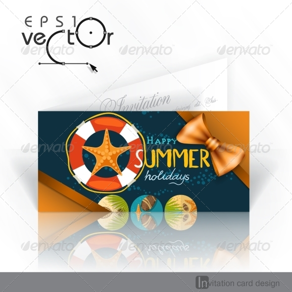GraphicRiver Invitation Card Design Template 8197185