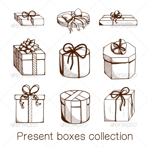 GraphicRiver Present Boxes Collection 8197304