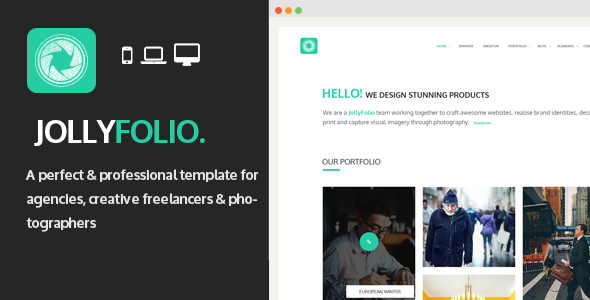 ThemeForest Jollyfolio Agency & Freelance Portfolio Template 8197305