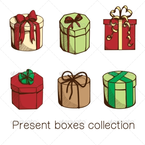GraphicRiver Present Boxes Collection 8197335