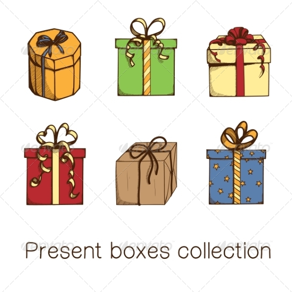 GraphicRiver Present Boxes Collection 8197339