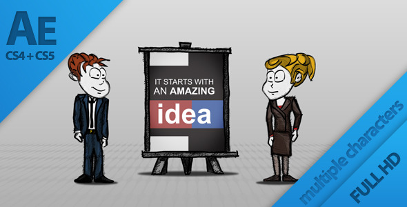 After Effects Project - VideoHive Cartoon Business Presentation 838303