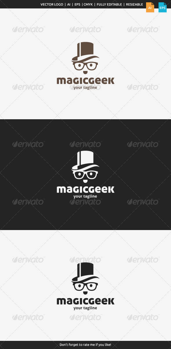 GraphicRiver Magic Geek Logo 8197389
