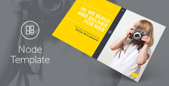 ThemeForest Node Responsive Portfolio Template 8083493