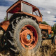 harvest, old agricultural tractor abandoned in a farm field - PhotoDune Item for Sale