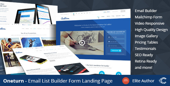 Oneturn - Marketing List Builder Landing Page - Marketing Corporate