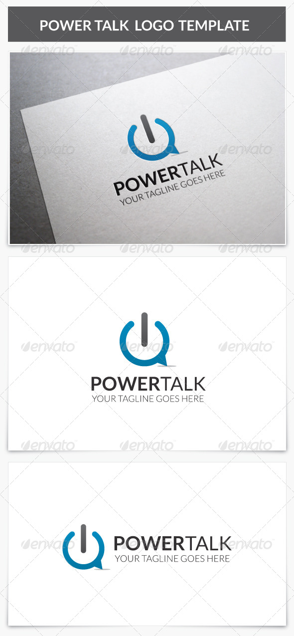 GraphicRiver Power Talk Logo 8197572
