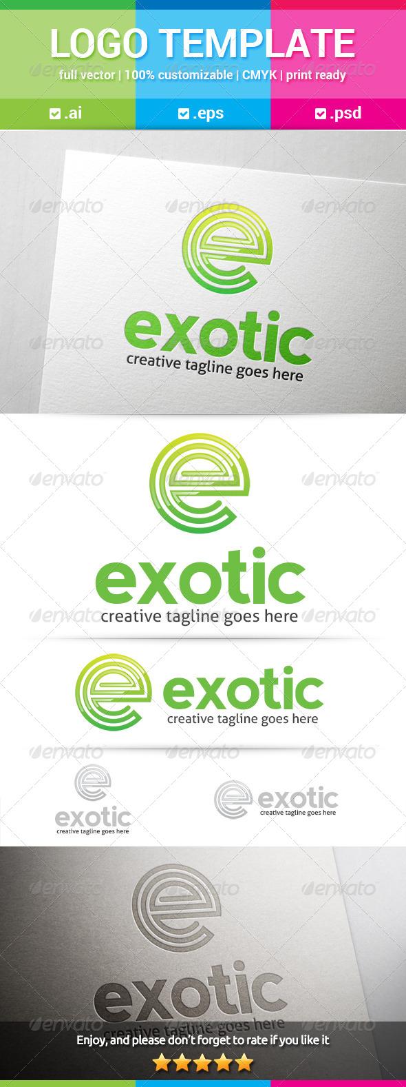 GraphicRiver Exotic Letter E Logo 8197636