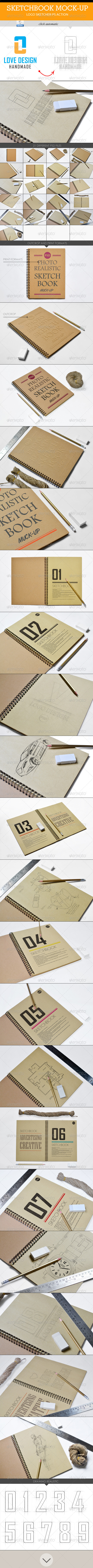 GraphicRiver Sketchbook Mock-Up 8197799