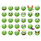 Set of Green Emoticons. - GraphicRiver Item for Sale