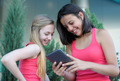 Two teen girls with tablet PC - PhotoDune Item for Sale
