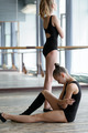 Two young ballet dancers in the studio during the  break - PhotoDune Item for Sale