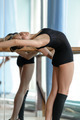 Young ballet dancer stretching out at the barre - PhotoDune Item for Sale
