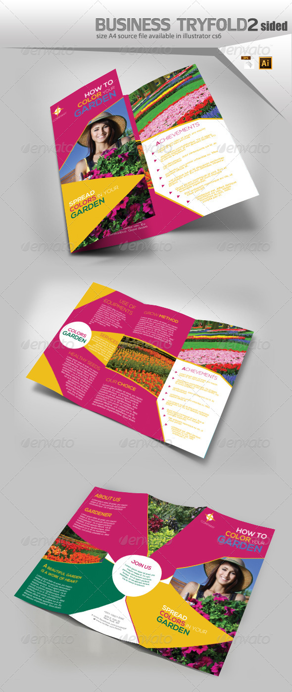 GraphicRiver Flower Delivery Trifold Template 8198197
