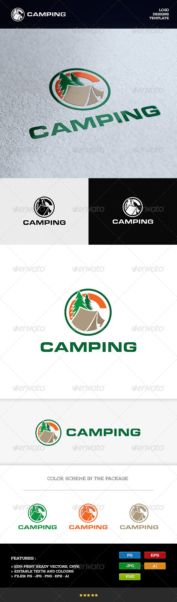 GraphicRiver Camping 8198233