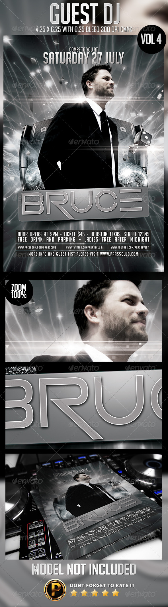 GraphicRiver Guest DJ Flyer Template Vol 4 8198546