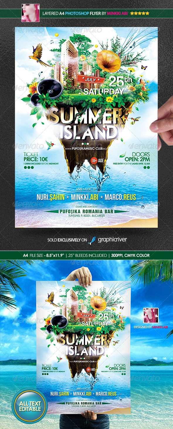 GraphicRiver Summer Island Poster Flyer 8198632