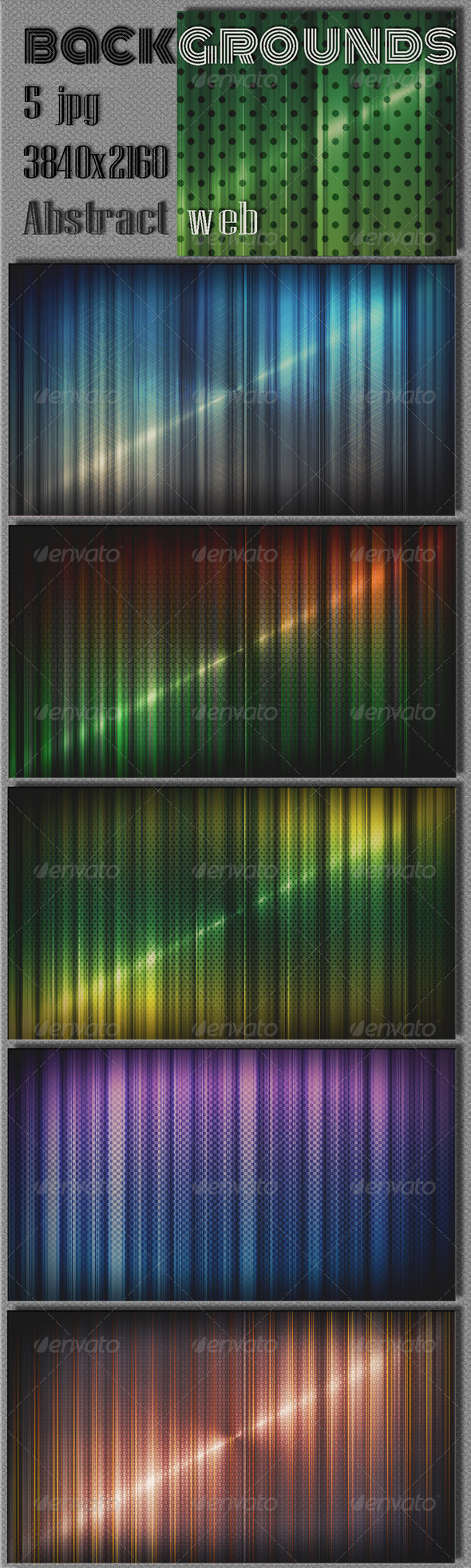GraphicRiver Colorful Techno Wall Backgrounds 8198751