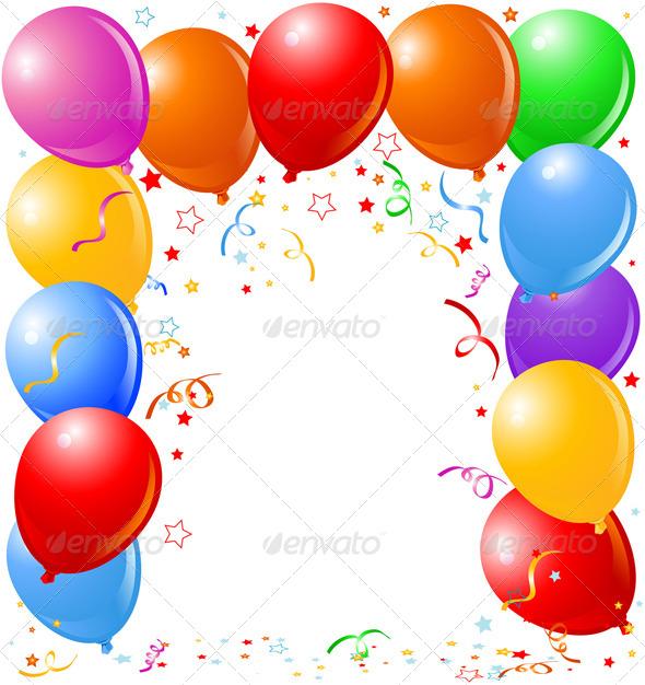 GraphicRiver Balloons Border 8198810