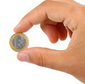 Holding one euro coin - PhotoDune Item for Sale