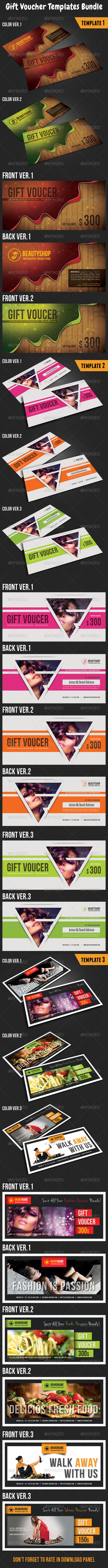 GraphicRiver Gift Voucher Templates Bundle 02 8198906