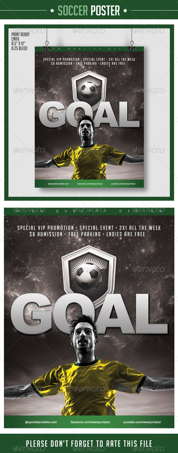 GraphicRiver Soccer Poster Goal 8198952