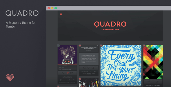 Quadro - A Masonry Theme for Tumblr - Blog Tumblr