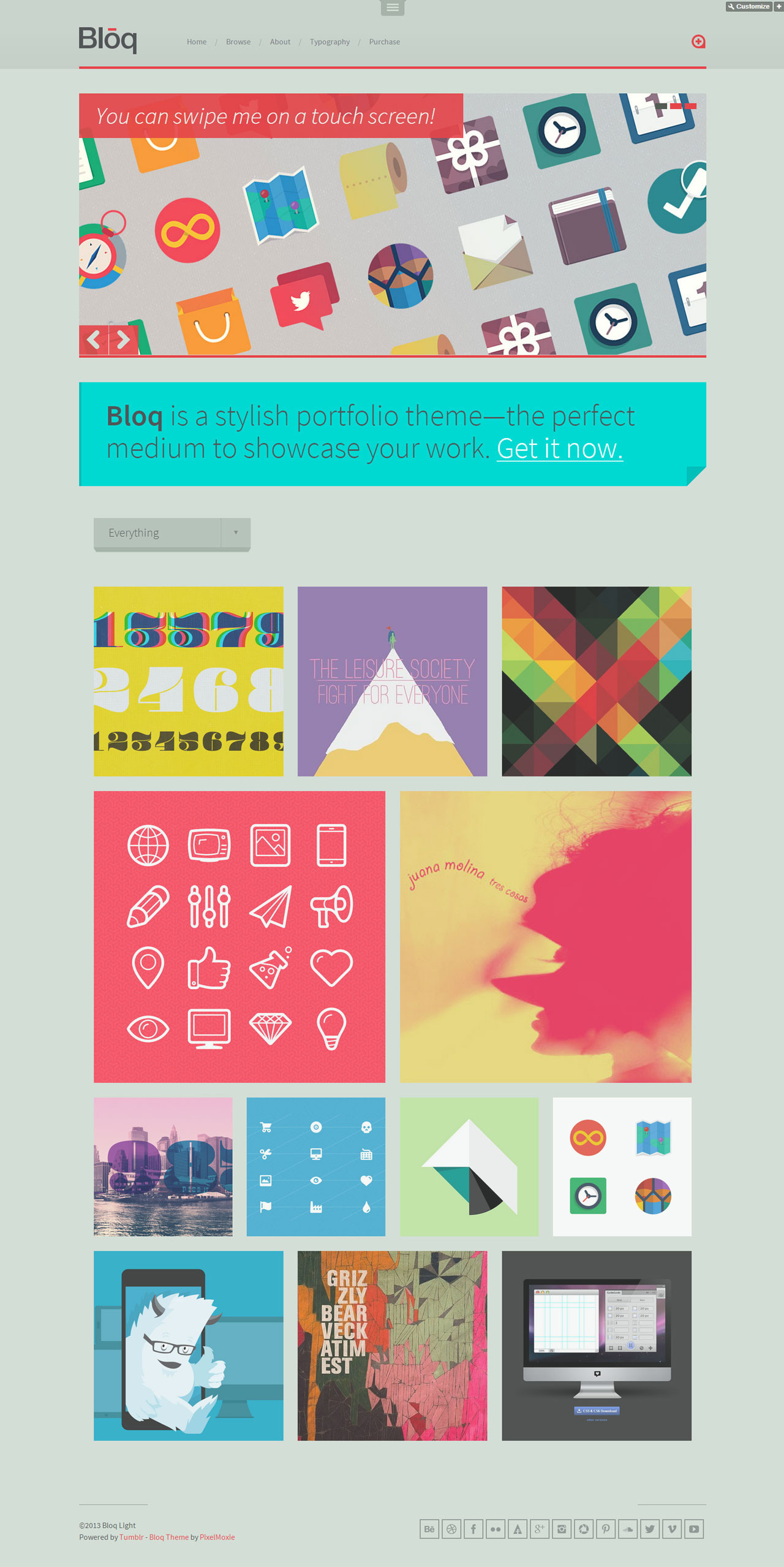 Bloq - A Blocky Portfolio Theme for Tumblr