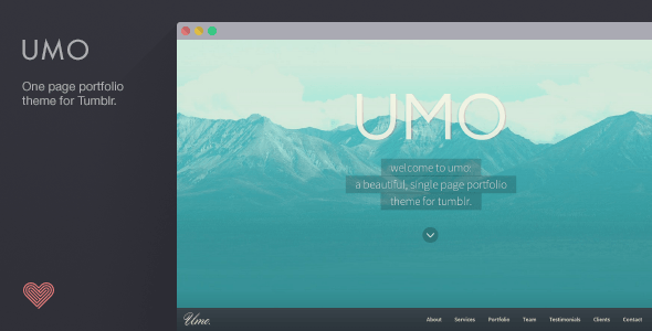 UMO Folio - A One Page Portfolio Theme For Tumblr
