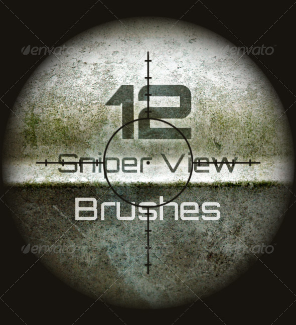 GraphicRiver 12 Sniper Scope Brushes 8199076