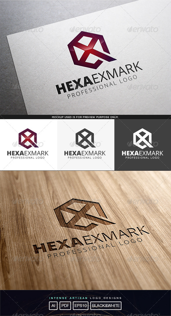 GraphicRiver Hexa Exmark Logo Template 8199437