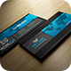 Black And Blue Business Card - GraphicRiver Item for Sale