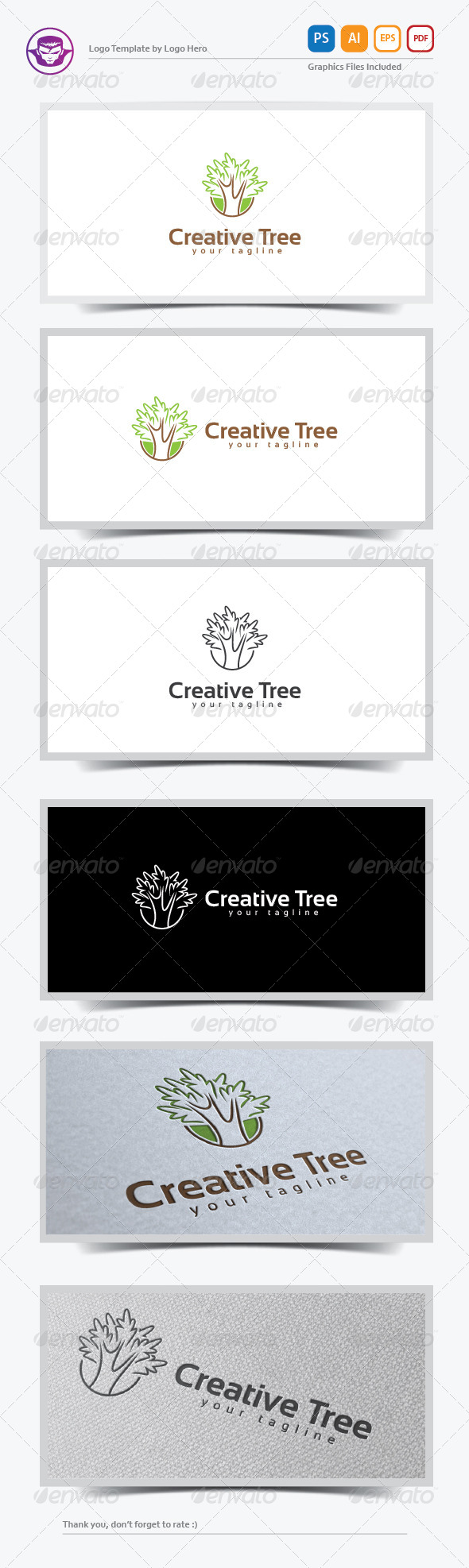 GraphicRiver Creative Tree Logo Template 8199896