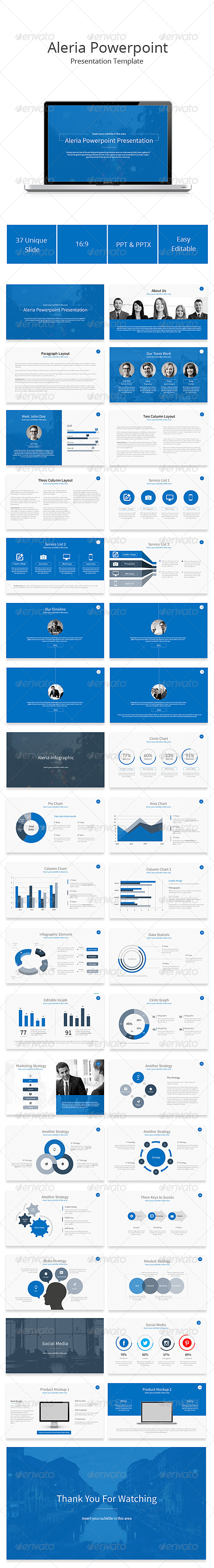 GraphicRiver Aleria Powerpoint Presentation Template 8200561