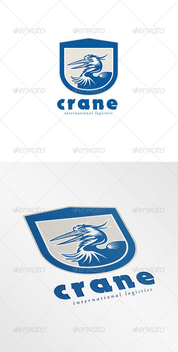 GraphicRiver Crane International Logistics Logo 8201854