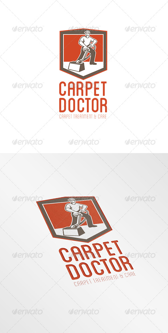 GraphicRiver Carpet Doctor Treatment and Care Logo 8201903