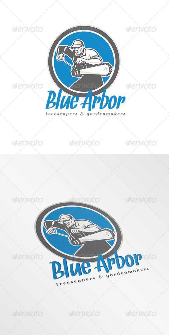 GraphicRiver Blue Arbor Treescapers Logo 8201984