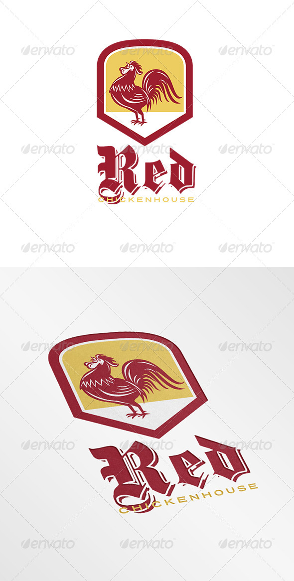 GraphicRiver Red Chicken House Logo 8202243